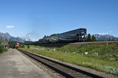Canadian Rockies, - Lake Louise Village and Lake Louise Station (The Grey Panther) Tags: bowriver canadianrockies rockymountaineer canadianrockymountains lakelouisevillage canadianrailways lakelouisestation