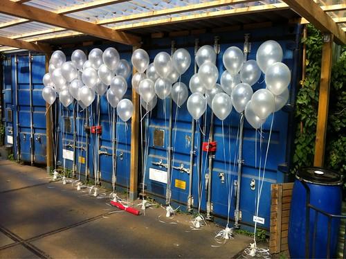 Tafeldecoratie 3ballonnen Abel Poortugaal