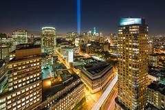 2012 Tribute in Light 9/11 Memorial (RBudhu) Tags: newyork worldtradecenter 911 twintowers gothamist groundzero tributeinlight 911memorial freedomtower 9112012