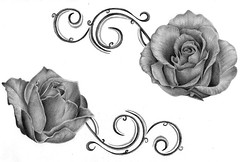 Gift (BrokenViolet) Tags: roses pencil sketch bahrain artist drawing gift marwa bahraini rasheed brokenviolet