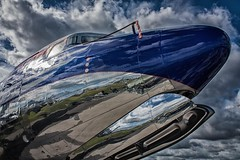 DC 6 Flying Bulls at ILA Berlin Air Show 2012 (Lens Daemmi) Tags: show red 6 berlin germany flying dc aircraft air bull bulls tito ila flugzeug 2012