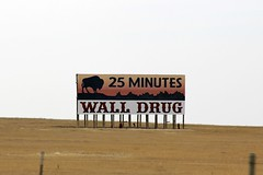 Just 25 Minutes... (the_mel) Tags: wall southdakota buffalo highway billboard advertisement drug 90 i90 walldrug