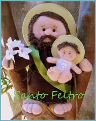 SÃO JOSÉ (edilmarasantiago) Tags: felt plush softie feltro santo sãojosé fieltro sentía edilmarasantiago santofeltro
