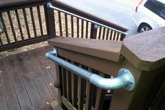Simple Railing for Porch Stairs