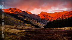 The Gore Range on fire with the evening sunset. (C.Fredrickson Photography) Tags: sunset mountains colorado september co eaglesnest wilderness 2012 whiterivernationalforest gorerange pineylake naturewatcher carlfredrickson carlfredrickson