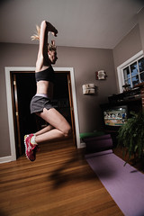 _MG_4585-30 (k.a. gilbert) Tags: morning jump jumping exercise flash mother livingroom indoors sweat kristen wife handheld inside ponytail fullframe workout fitness airborne leap milf fit 116 aerobics workingout sweating uwa offcamera diysoftbox irtrigger tokina1116mmf28 canon430exii ettl2 canon5dc yongnuoste2