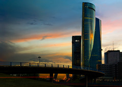 Madrid Buildings, Buisness Area (Sergio Snchez Prez) Tags: madrid sunset sergio atardecer towers sanchez torres perez rascacielos skyscrapper