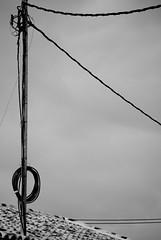 la presunta paradoja de cilindros formando ángulos (Sili[k]) Tags: roof sky bw byn blancoynegro wire nikon angle cable minimal murcia cielo conceptual duotoned tejado ángulo sanjavier santiagodelaribera d3000