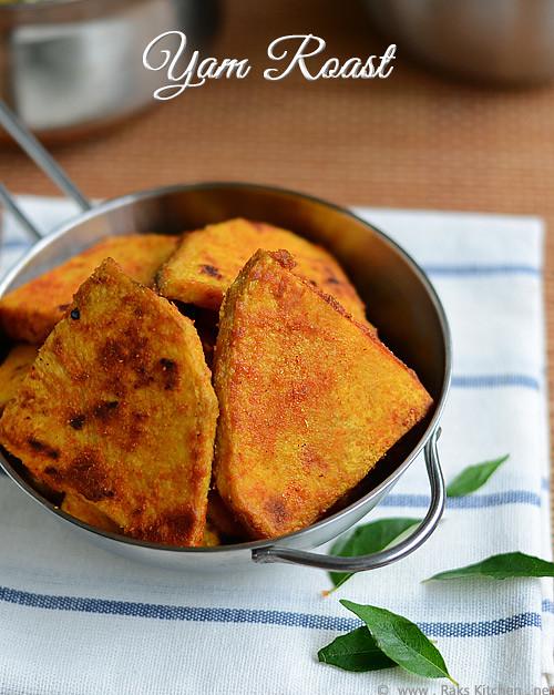 Yam fry - elephant yam roast