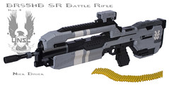 Halo 4 BR85HB SR Battle Rifle (Nick Brick) Tags: life brick gun lego chief 4 nick rifle halo battle size master sr 343 unsc nickbrick br85hb