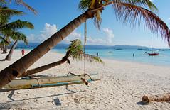 enjoying the beach (marin.tomic) Tags: travel blue sea holiday beach water asian island coast boat sand nikon asia southeastasia philippines sunny palm insel tropical boracay tropics visayas philippinen whitebeach d40