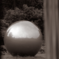 Big wet Ball (beta karel) Tags: park reflection skyline ball mirror big round middelheim 2012 betakarel