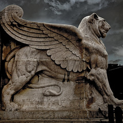 Winged Sentinel (PCsAHoot - Taking a Break) Tags: italy rome statue wingedlion