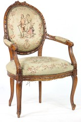 32. Carved French Fauteuil