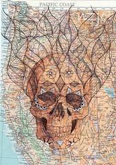 Da de los Muertos mapped skull (Jo in NZ) Tags: dayofthedead skull dadelosmuertos zentangle nzjo