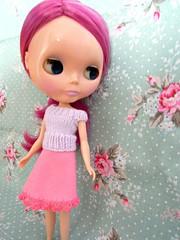 Crochet trim skirt