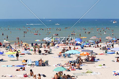 people enjoying at wasaga beach in ontario, canada (waconature8877) Tags: ocean travel sea summer people sunlight ontario canada tourism beach water outdoors photography sand day bright horizon crowd sunny tourist fromabove canopy enjoying enjoyment travelers crowded wasagabeach beachumbrella colorimage leisureactivity placeofinterest unrecognizablepeople largegroupofpeople traveldestination horizonoverwater miniatureeffect