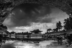 Virtual world (everybodyisone) Tags: reflection reflect mirror lake water clouds asia east eastern sky 16mm fisheye fullframe sony sonyilce7 sonyalpha grass nature upsidedown