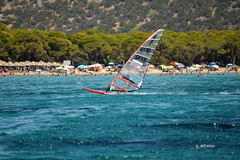 summer in Greece swiming and water sports (g_athens [swaping]) Tags: wind surf swiming water sports summer sea trees sun       sunday