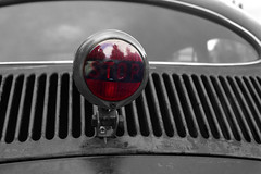 Stop (Ronald_H) Tags: kcn goes zeeland volkswagen vw beetle bug classic car stop brake light air cooled aircooled 2016 selective color