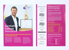 Carshalton College Newsletter 2016 (Back/Front) (aydinimustafa) Tags: graphics graphic graphicdesign design art artwork illustration type text typography editorial layout book colour college school university work job placement photography grid inspiration posters poster banner leaflet digital print photoshop indesign illustrator carshalton kingston branding campaign summer brand logo marketing advertisement ideas development billboards socialdesign exploration experimentation xerox newsletter