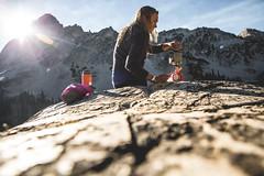 After A Bath (The Noisy Plume) Tags: idaho cook breakfast sunrise mountains camp explore sawtooths