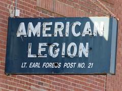 Post No. 21 (jimsawthat) Tags: shadow nebraska neon fraternal fairmont smalltown americanlegion metalsigns vintagesigns