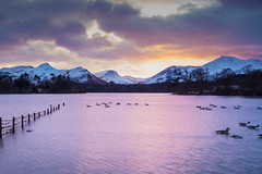Winter Sunset Derwentwater (tony johnston Images) Tags: cumbria derwentwater england other places sunset waterlandscape lakes outdoor landscapemountain landscape mountain