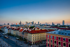 Above the red rooftops (TanzPanorama) Tags: cityscape roof buildings travel poland warsaw warszawa tanzpanorama flickr fe1635mmf4zaoss fe1635 sony sonya7ii ilce7m2 oldtown staremiasto centrum center citycentre centre rooftop sky europe evening goldenhour