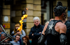 Robot-3 (Andy Darby) Tags: chester street streetphotography streetview busker juggler fire fireeater artist robot