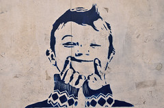 Found in Pula (laroo700) Tags: template schablone painting street art smile boy kid child face pula pola hrvatska kroatien croatia kunst gemlde