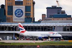 BA CityFlyer ~ Embraer ERJ-170STD ~ G-LCYE (jb tuohy) Tags: bacityflyer embraer erj170 e170 ejet glcye aircraft airplane plane airline avion aviation airport lcy eglc transportation londoncity