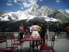 Mer de Glace (AmyEAnderson) Tags: merdeglace france europe rhonealpes alps mountain mountainside tourists scenic snowcapped sky clouds montblanc