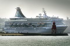 Artania departing the Tyne (DM Allan) Tags: msartania tyne portoftyne ship cruise groyne southshields tynemouth