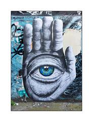 Street Art (DRSC), East London, England. (Joseph O'Malley64) Tags: drsc streetart graffiti eastlondon eastend london england uk britain british greatbritain wall walls pasteup wheatpaste render concrete hand eye mixedmedia