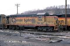 WM 5632 on 3-30-80 (C.W. Lahickey) Tags: wm emd gp7 connellsville