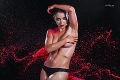 Red splash (maikel_nai) Tags: girl model nude naked topless paintsplash colorsplash paintthrow studio blackbackground n4i n4ies canon5d photoshoot lowkey redlips redmakeup redeyeshadows saragonzalez makeup cristinaarmenta redpaint blackthong blackpanties20164flashescristinaarmentacristycolorsplashlanzamientoagualanzamientopinturalowkeymaquillajecolorespapelaluminiophotoshootpiscinasarastudiotanganegrotoplessventanaswatersplashjerezdelafronteracdizspain