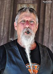 Aug 8 2016 - Met this guy in Custer, SD -- cool Cuban cigar, beard, and sun burned nose (lazy_photog) Tags: lazy photog elliott photography sturgis south dakota black hills classic rally races pactola reservoir bikers babes tattoos ink strangers custer main street stogie cigar cuban braided beard sunburned face 080816sturgisdaythree