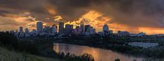 Sunset Panorama (John Payzant) Tags: hdr panorama alberta edmpnton canada sunset