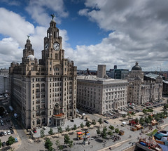 One Two Three Graces (alancookson) Tags: fujixt1270716 pierhead liverpool royalliverbuilding cunardbuilding portofliverpoolbuilding threegraces cityscape