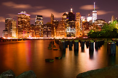 City of many colors (veytrex8345) Tags: manhattan city lights pentaxlife pentax nyc cityscape night newyorkcity golden river longexposure
