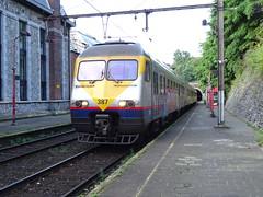 NMBS/SNCB 387 @ Lige-Jonfosse (Sim0nTrains Photos) Tags: ligejonfosserailwaystation ligejonfossestation 387 nmbssncb nmbs sncb break am83 typeam83 emu electricmultipleunit am83break belgiannationalrailways