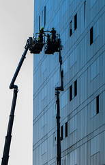 BRYAN_20160524_IMG_2453 (stephenbryan825) Tags: liverpool mannisland buildings crane glass menatwork reflection selects windowcleaners