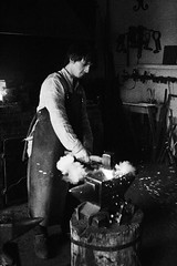 131953_18032014_MG_3478 (1) (kamandre) Tags: blackandwhite blacksmith bw canon100d canonef2470mmf28lusm canonef2470mmf28l canoneos100d eosrebelsl1 eoskissx7 handsomeman house kamandre moscow museum museumworker portrait rawphotoprocessor rpp russia russian shadow smoke