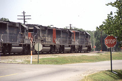 Southern Pacific GP60 #9708 at Cabot AR on 6-23-97 (LE_Irvin) Tags: cabotar gp60 southernpacific