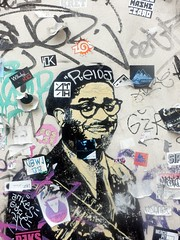 dunnowhosetheguy-01 (Quetzalcoatl002) Tags: music graffity streetart glasses smile stickers graffiti graffityart amsterdam face street
