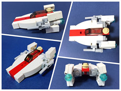 miniscale A-wing (obscurance) Tags: rebel mini lego zio afol space awing fighter starwars moc