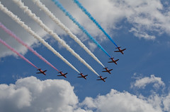 Red Arrows (Andy.Main) Tags: red sky clouds plane nikon hawk jet arrows 70300mm bournemouth d7000