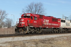 SOO 6052 West Duplainville 281 3/16/2011 (AndyWS formerly_WisconsinSkies) Tags: railroad wisconsin train rail railway locomotive canadianpacific sooline cp soo railfan cprail emd duplainville sd60 emdsd60 soolinesd60 soosd60