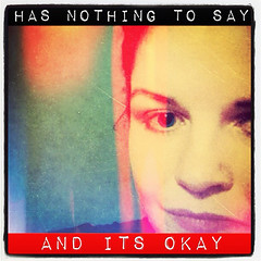 Nothing to Say (Mitchypop) Tags: selfportrait colorsplash beatleslyrics vintique instagram pixlromatic instanote
